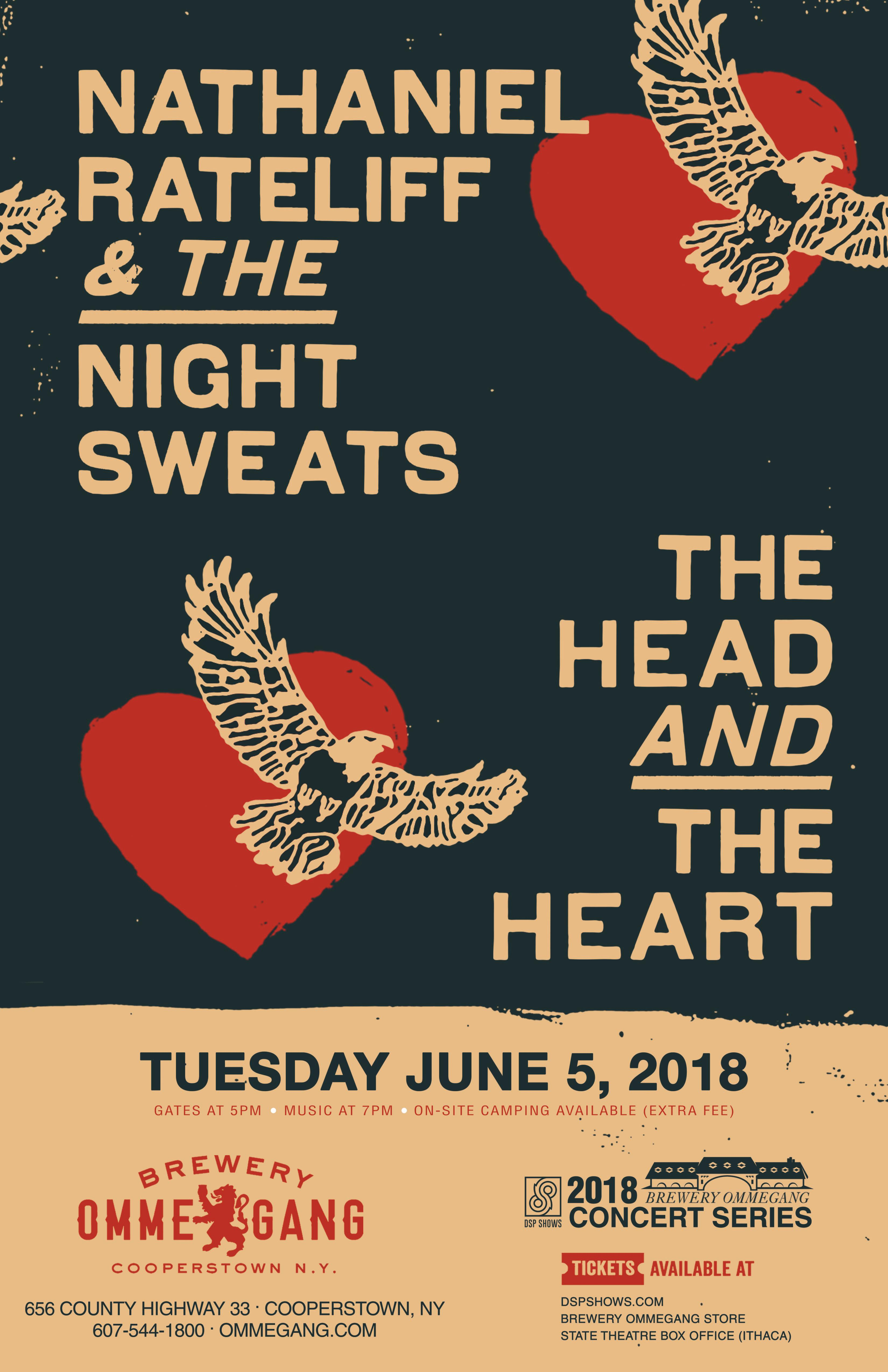 SCS 2018: Nathaniel Rateliff & The Night Sweats + The Head and The Heart on June 5