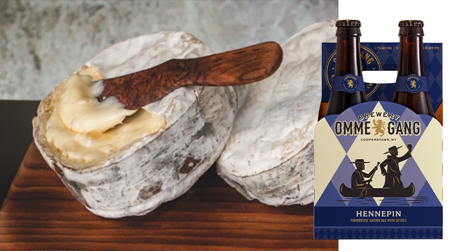 Pair Ommegang Hennepin with Jasper Hill Farm Harbison Cheese