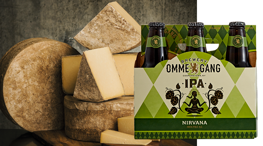 Pair Ommegang Nirvana with Jasper Hill Farm Clothbound