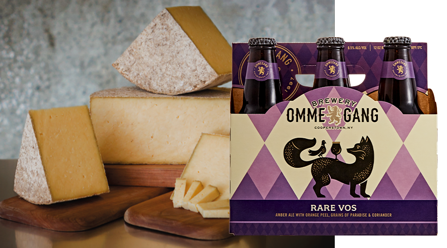 Ommegang Rare Vos Cheese Pairing