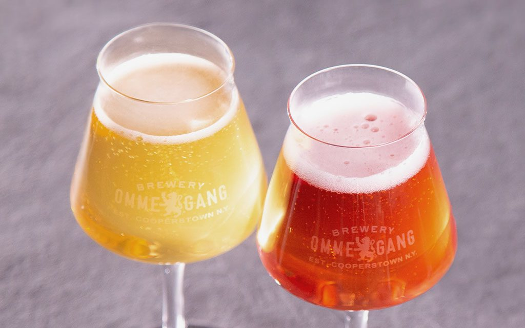 brewery ommegang project cider in teku glasses